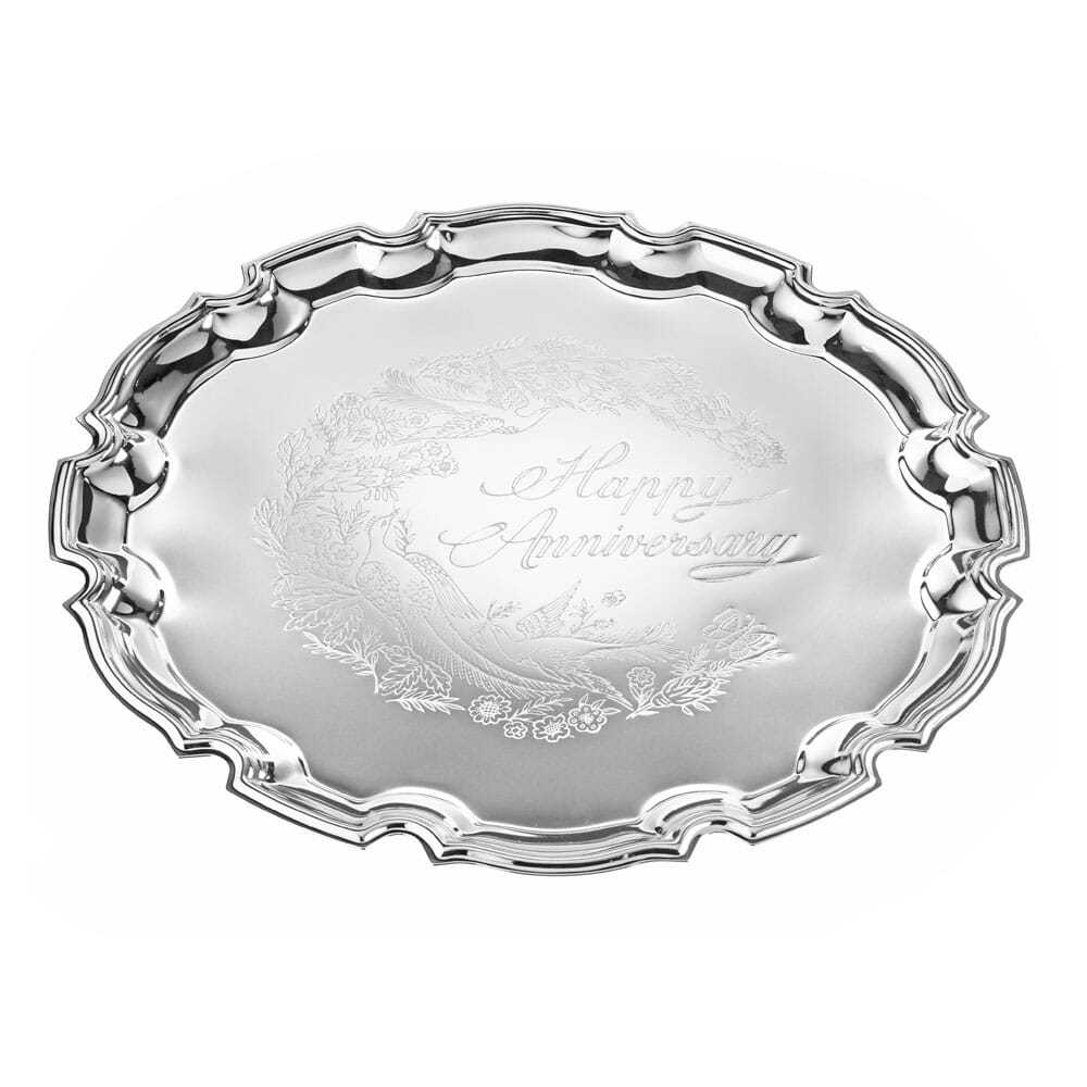 Queen Anne Large Happy Anniversary Tray