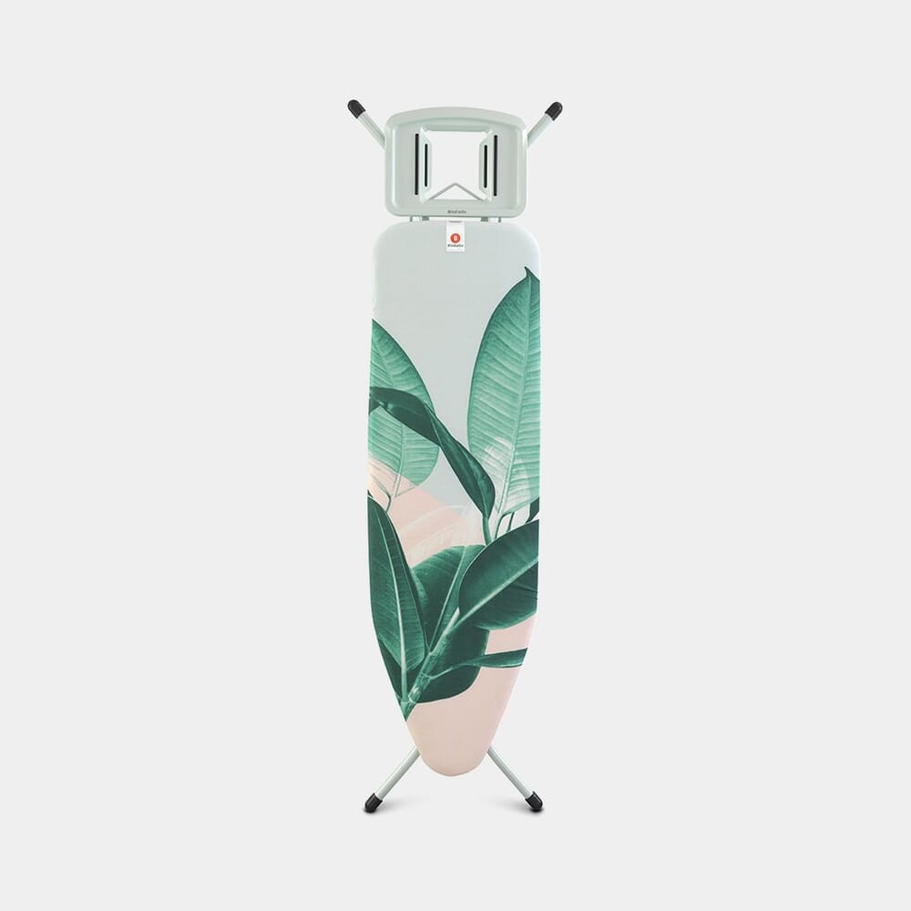 Brabantia Ironing Board 124 x 38 cm, for Steam Iron – Tropical Leaves